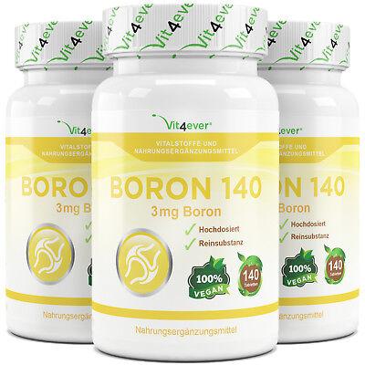 3x Bor = 420 Tabletten mit 3 mg - Hochdosiert - Vit4ever - Boron - Spurenelement