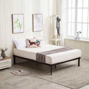 Full/King Size Metal Platform Bed Frame Wood Slat Mattress Foundation Bedroom