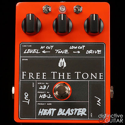 NEW FREE THE TONE HB2 HEAT BLASTER MODERN GAIN DISTORTION BOUTIQUE EFFECTS PEDAL