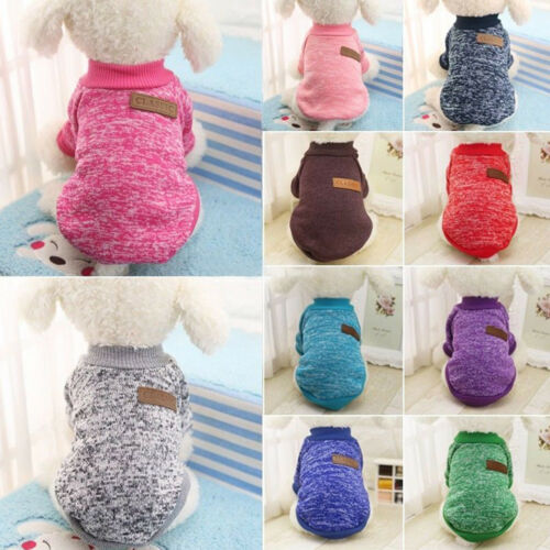 Small Pet Hoodie Sweater Coat Jacket Puppy Dog Cat Warm Costume Apparel Clothes 3