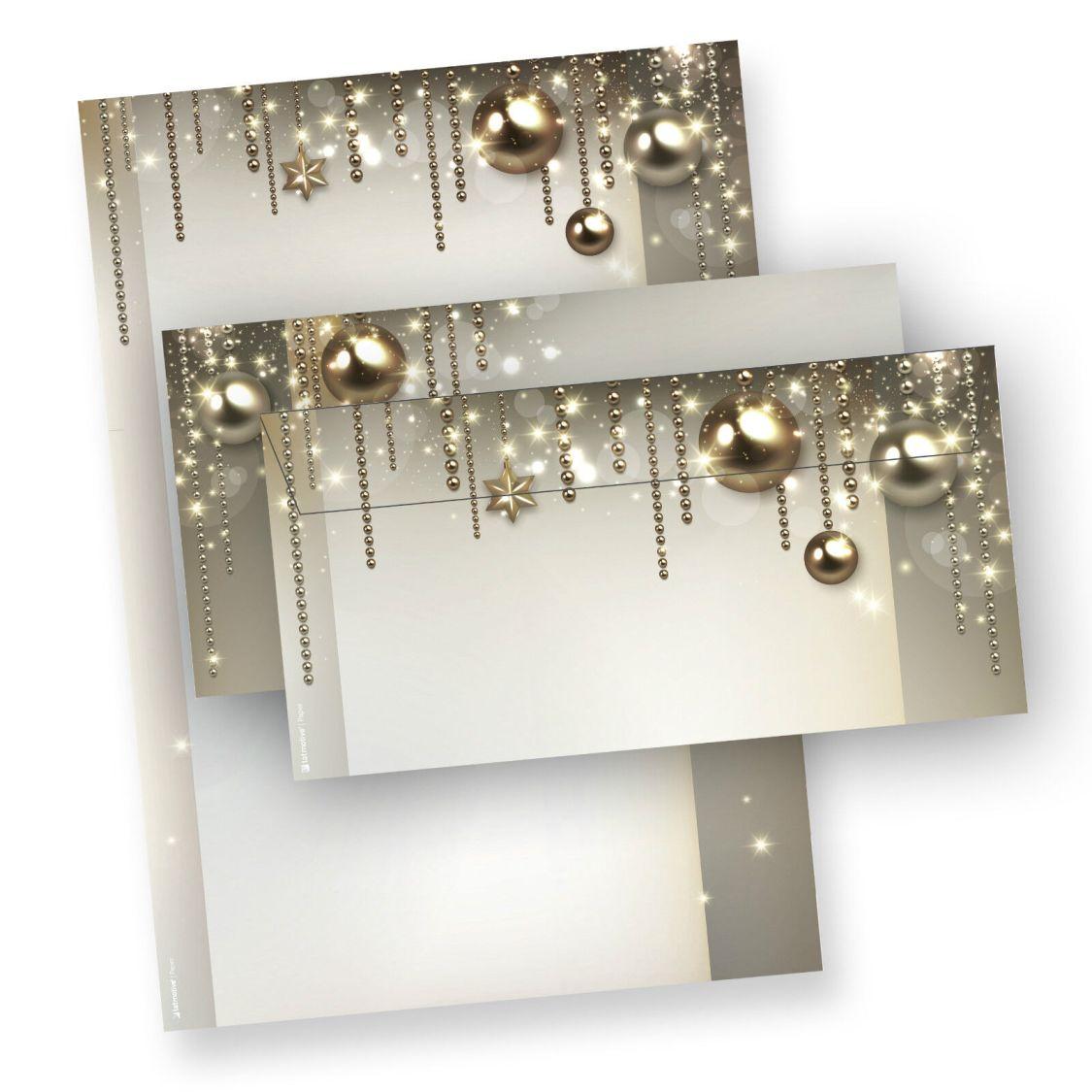 Briefpapier Weihnachten NOBLESSE Weihnachtsbriefpapier mit/ohne Briefumschläge
