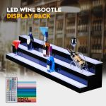 Details About 60 3 Step Tier Led Lighted Back Bar Glowing Liquor Bottle Display Shelf Stand