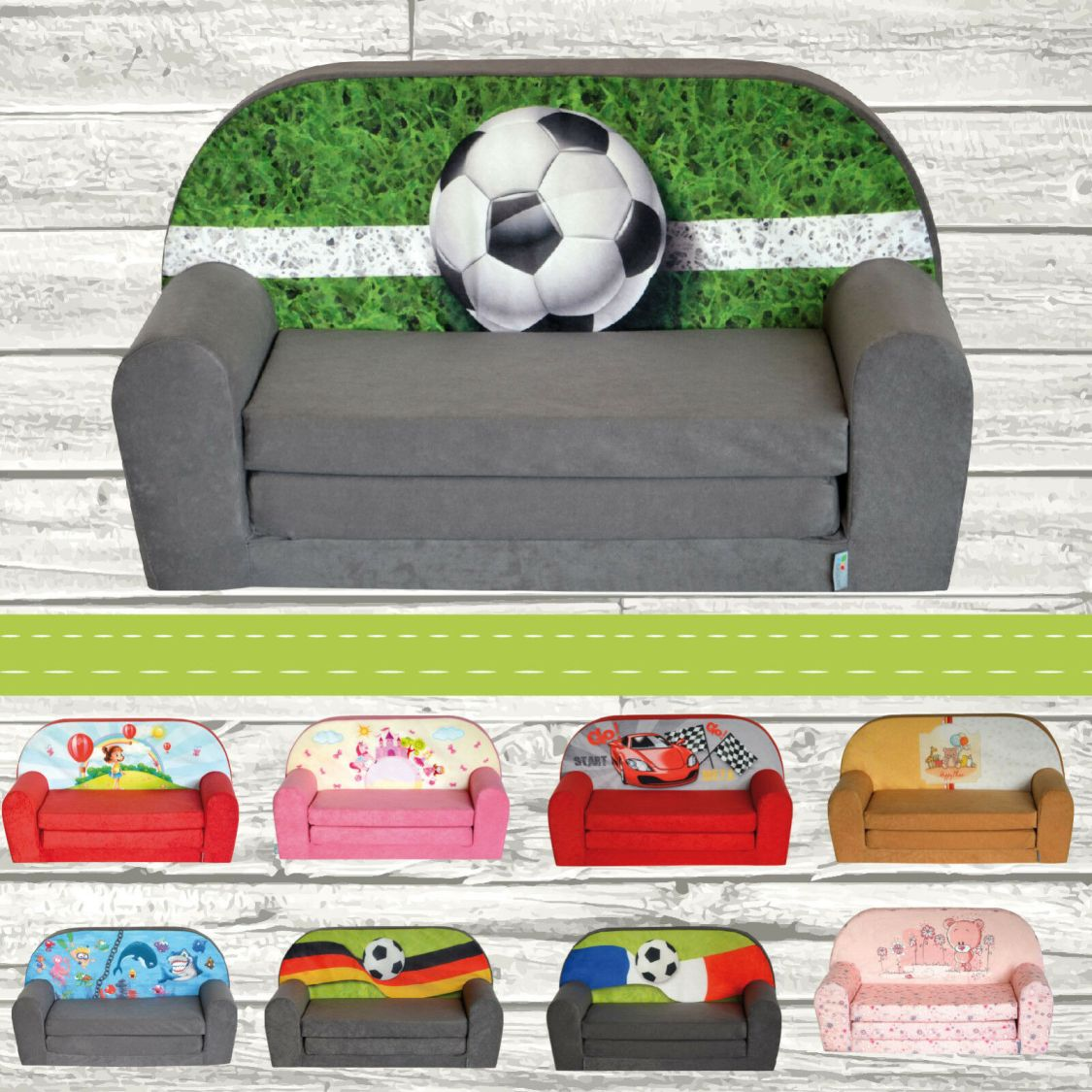 Kindersofa MINI Kindercouch Kindersessel Kindermöbel Sofa FORTISLINE