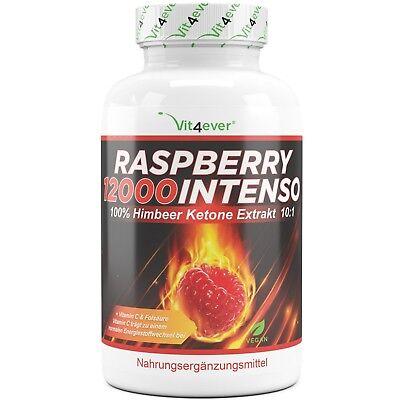 Raspberry Ketones 12000 - 120 Kapseln - 100% Himbeere Ketone Stoffwechsel-Diät