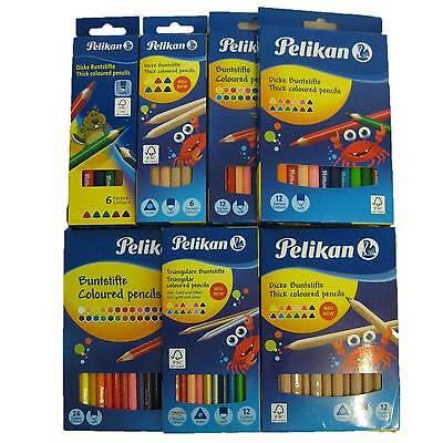 Pelikan Buntstifte 6 12 24 dicke jumbo normal Buntstift Set Dreikant sechseckig