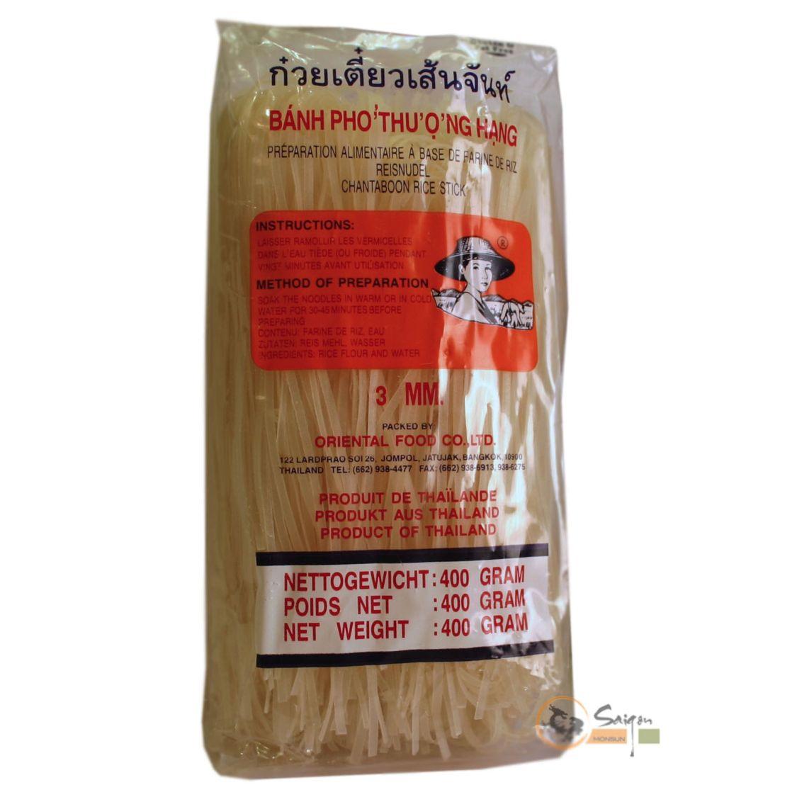 Farmer 3mm Reisbandnudel 400g Reisnudeln, super für Pad Thai, Pho, Bratnudeln
