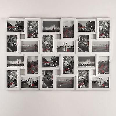 XXL Fotorahmen Wandgalerie Bildergalerie Bilderrahmen Collage 10x15cm 24 Bilder