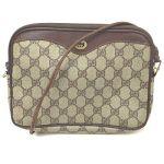 Gucci Shoulder Bag  Browns PVC 402491