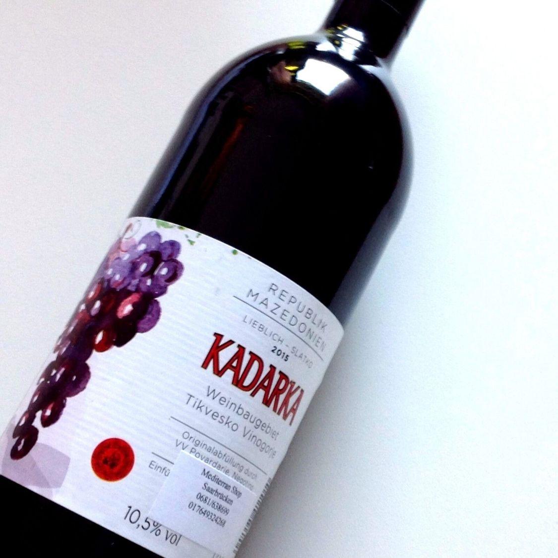 6 L Mazedonischer Kadarka   Rotwein Qwmgh-10,5%Alk. lieblich -Mazedonien