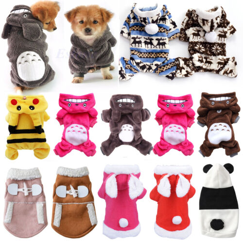 Small Pet Hoodie Sweater Coat Jacket Puppy Dog Cat Warm Costume Apparel Clothes 1