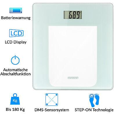 monzana® Waage Personenwaage Körperwaage Digital Gewichtswaage Badezimmer 180kg