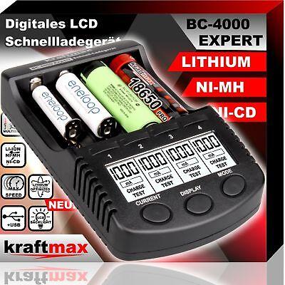 BC-4000 EXPERT Universal Akku Ladegerät für Lithium und Ni-MH Akkus 18650 Li-Ion