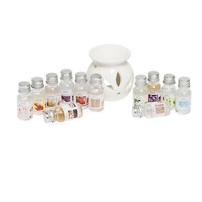 Duftöl 12x 10ml Aroma Ölbrenner Öl Duft Brenner Lampe Verdunster Geschenk-Set