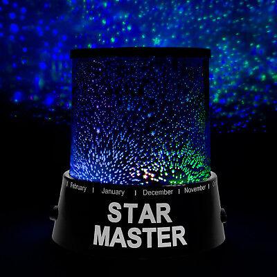 LED Sternenhimmel-Projektor m. 3 Leuchtprogramme Nachtlicht Lampe Einschlafhilfe