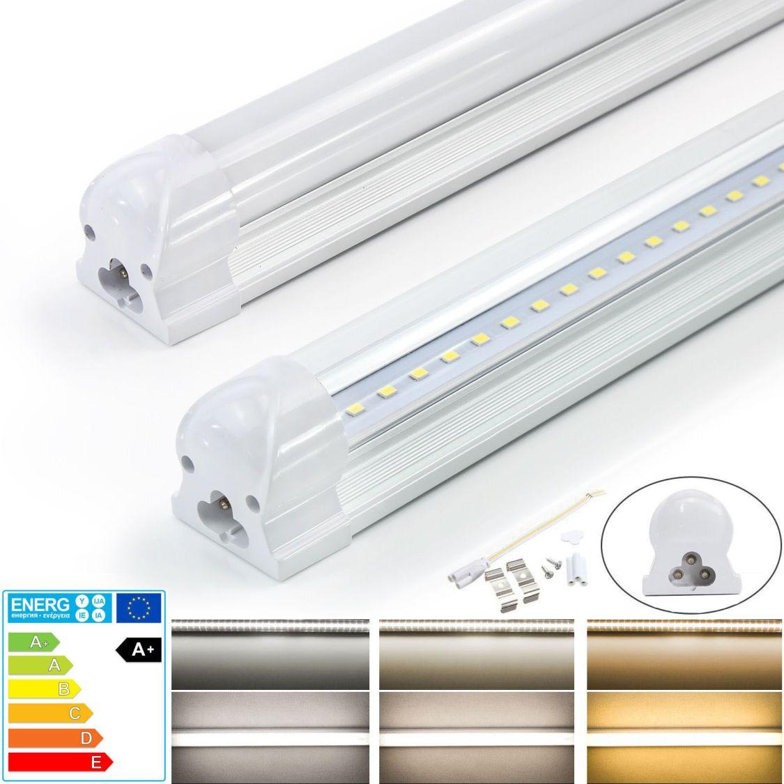 LED Leuchtstoffröhre Mit Fassung Leuchtstofflampe Komplett Lichtleiste T8 Tube
