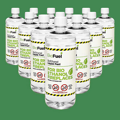 Bioethanol Fuel 24 X 1L Bottle Premium Quality 97% Pure Free Next Day Delivery