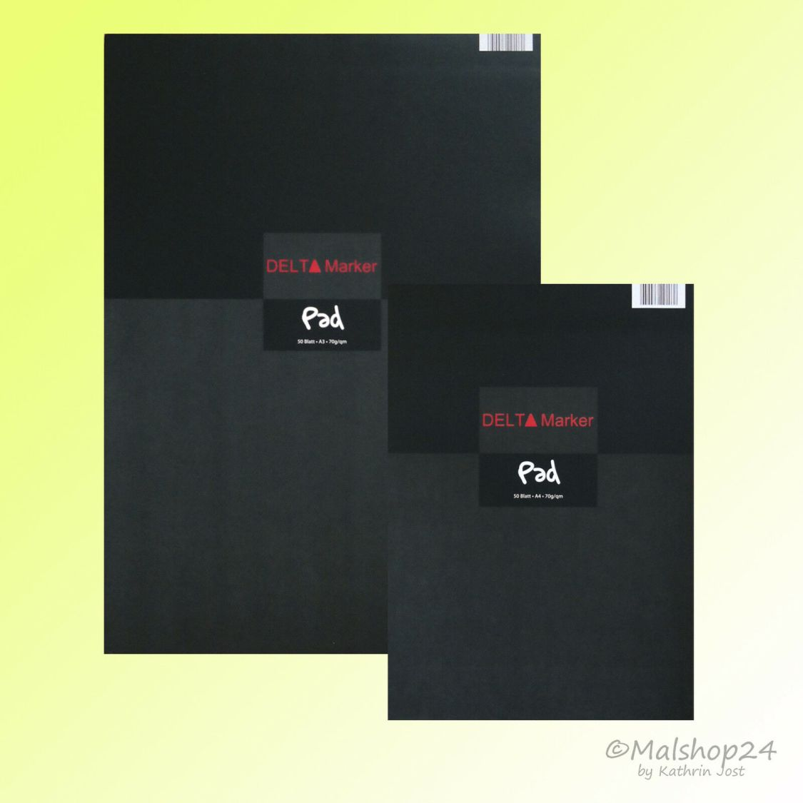 Zeichenblock für Marker Liner Manga 70 g/m² 50 Bl. Papier Layoutblock Pad