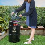Multi-Function Barrel Pit Charcoal Smoker Grill BBQ Pizza Oven Table & Fire Pit
