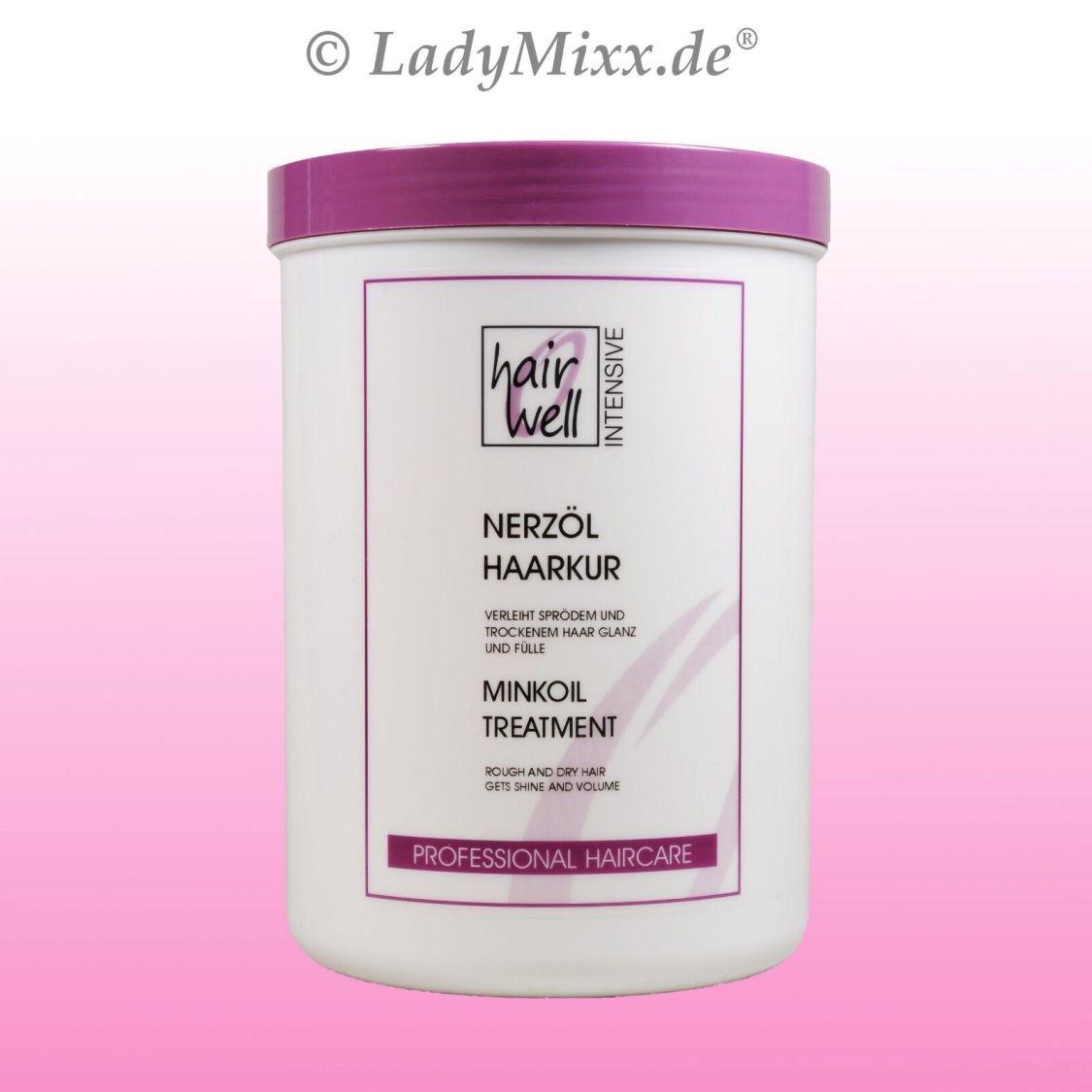 Nerzöl Haarkur 1000 ml Hairwell EURODOR Silikonfrei für trockenes Haar