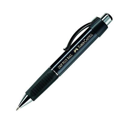 Faber-Castell  Druckkugelschreiber  GRIP PLUS BALL metallic-schwarz