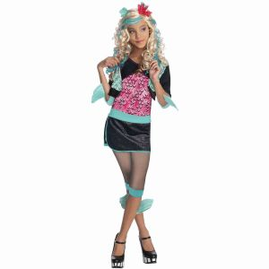 Girls Lagoona Blue Costume Monster High Halloween Fancy Dress Child Kids S M L