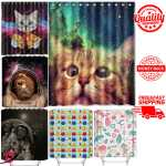 Details About Cat Shower Curtain Waterproof Polyester Fabric For Bathroom Mildew Resistant New