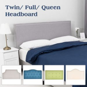 Adjustable Linen Fabric Upholstered Headboard Twin/Full/Queen Bedroom Furniture