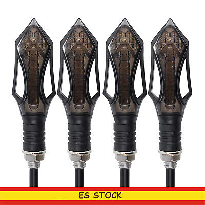 4x Moto Intermitentes 12 LED Turn Signal Indicador Luces Señal Giro impermeable