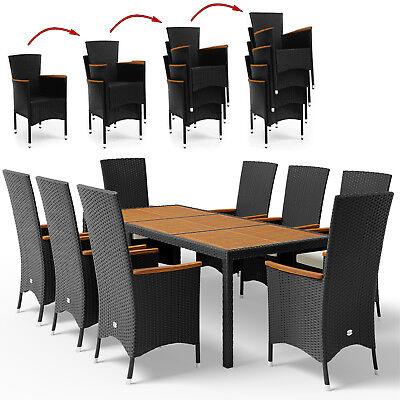 Polyrattan Sitzgarnitur Sitzgruppe Gartenmöbel Set Essgruppe Lounge Garten  8+1