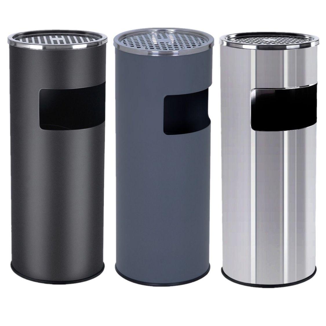 Mülltrenner Edelstahl Standaschenbecher Standascher Mülleimer mit Inneneimer 30L