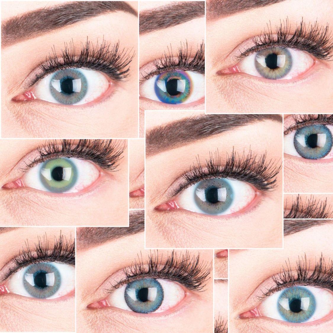 Farbige blaue Kontaktlinsen 3 Monatslinsen mit / ohne Stärke deckend natürlich