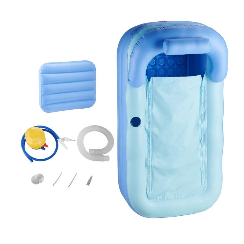 Aufblasbare Badewanne faltbar klappbar beweglich mit Luftpumpe Erwachsene