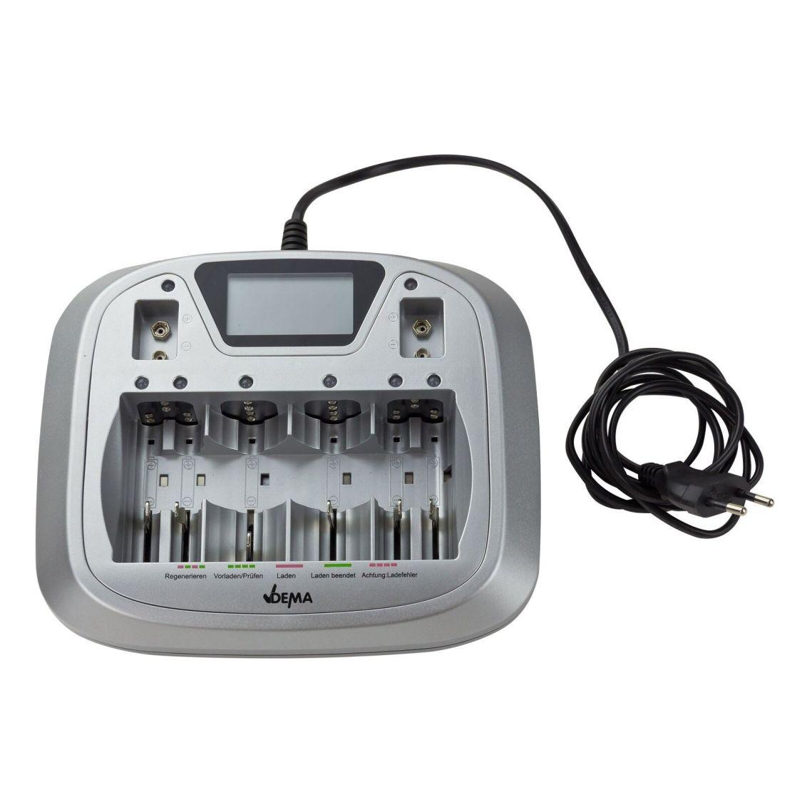 Akku Ladegerät AL8 electronic AA / AAA / C / D / 9 V Block Akkus USB NEU 94130
