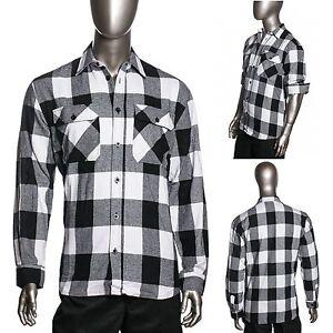 HG Mens Brawny Buffalo Plaid Flannel Shirt Long Sleeve Heavyweight