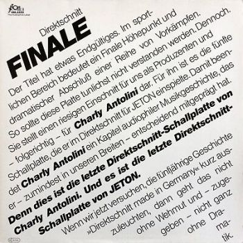 Charly Antolini FINALE 1983 Jeton ‎– 100.3333 Limited Edition direct-to-disc LP