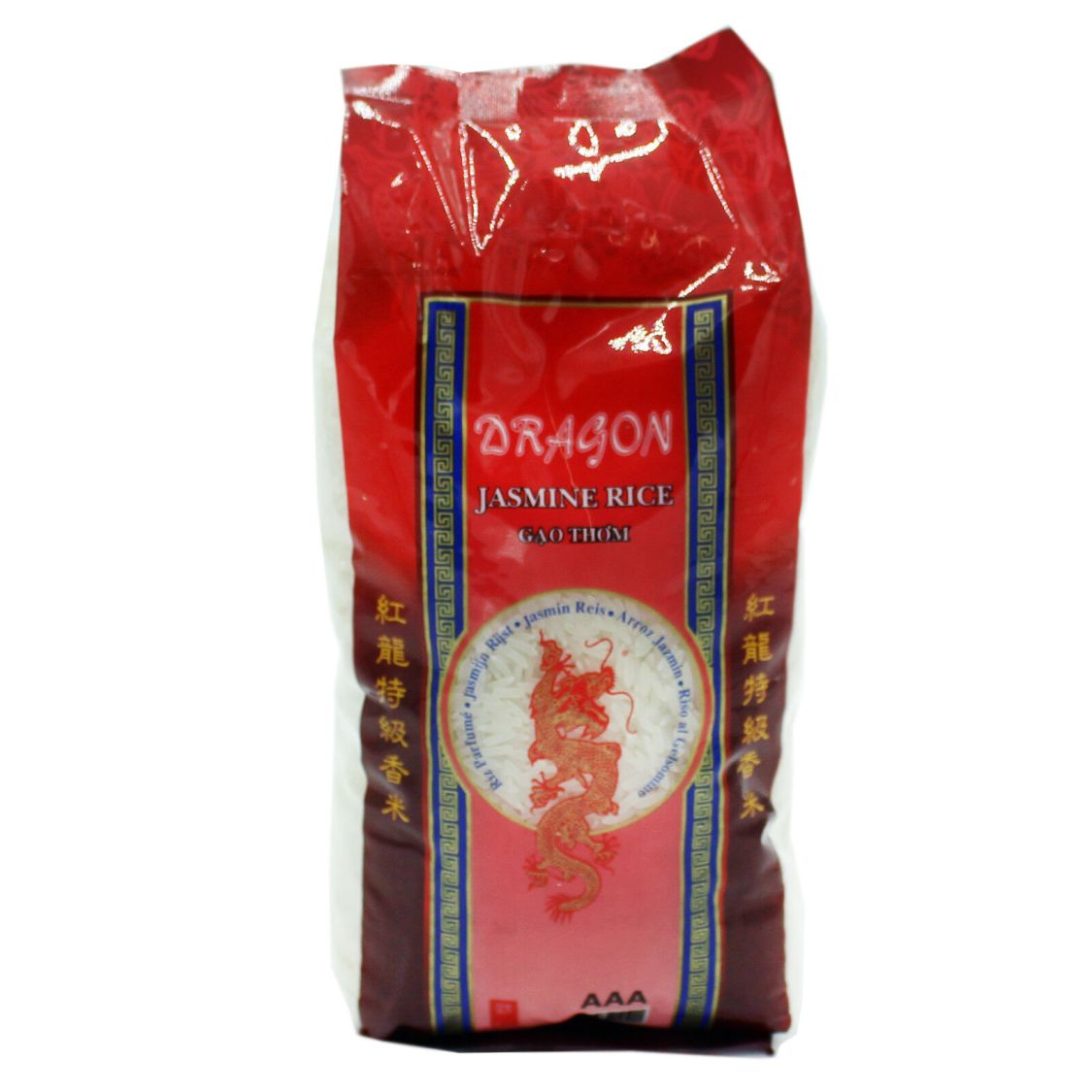 20kg (20x1kg) Red Dragon Jasmin Langkorn Reis Jasminreis AAA Langkorn Duftreis