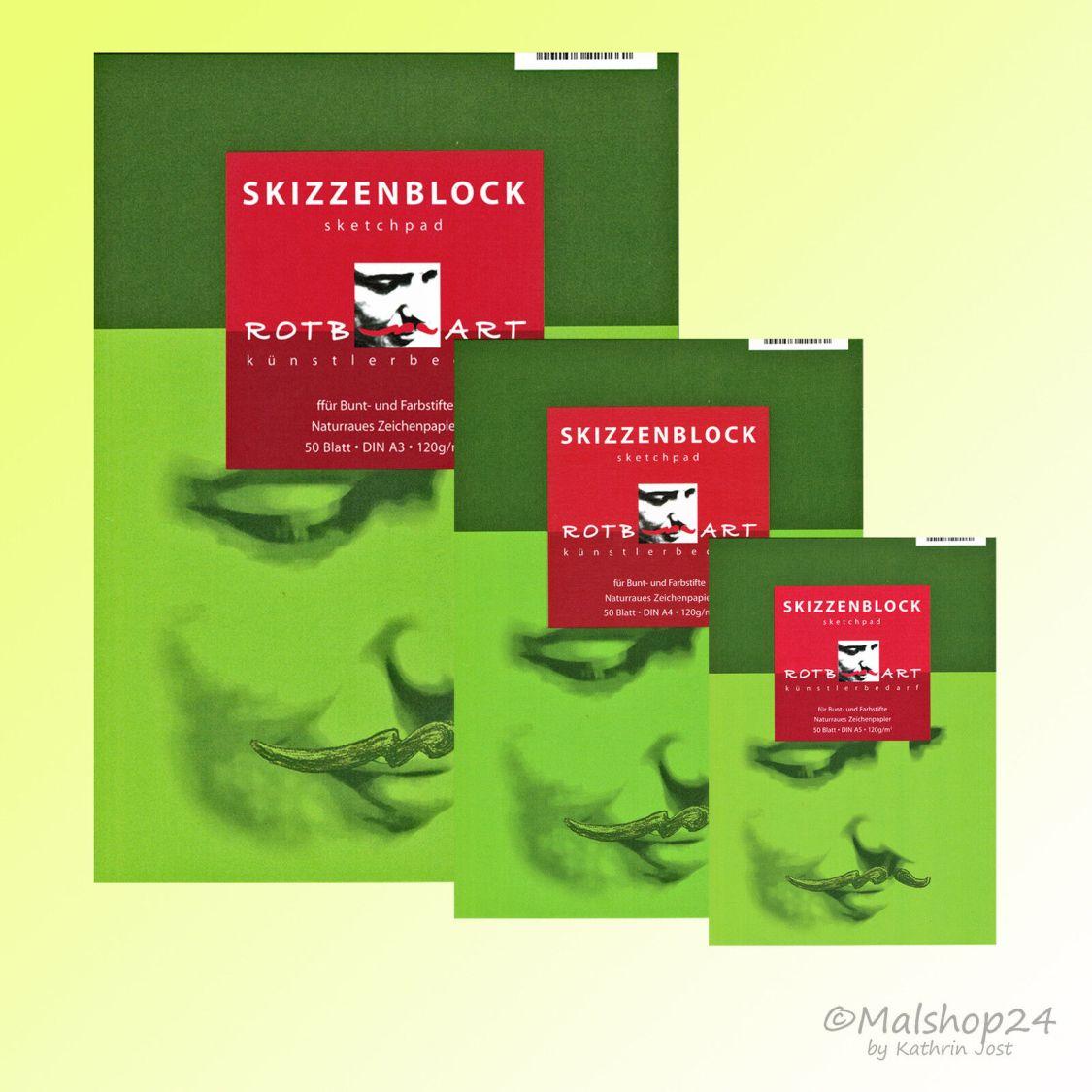 Skizzenblock Zeichenblock 120 g/m² 50 Bl. Zeichenpapier Skizzenpapier Sketchpad