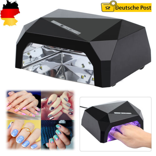 36W Nail Art Nagellacktrockner LED/UV Lampe Lichthärtegrät Lichthärtungsgerät DE