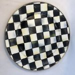 """Mackenzie Childs Courtly Check Dinner/Charger Plate - 12"""""""