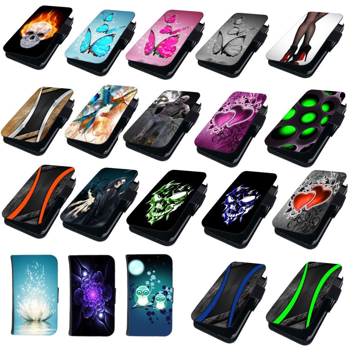 Für Samsung Galaxy S4 Handyhülle Schutz Hülle Handy Tasche Case Cover Etui Motiv