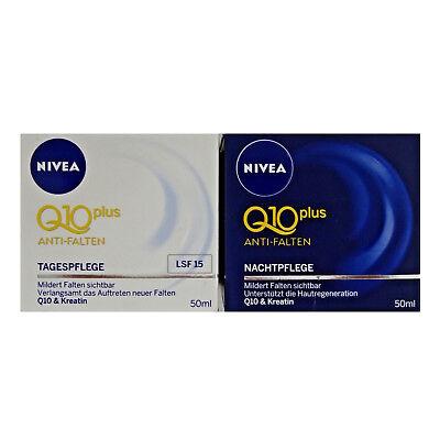 NIVEA Q10 Plus Anti Falten SET Nachtpflege 50 ml + Tagespflege 50 ml