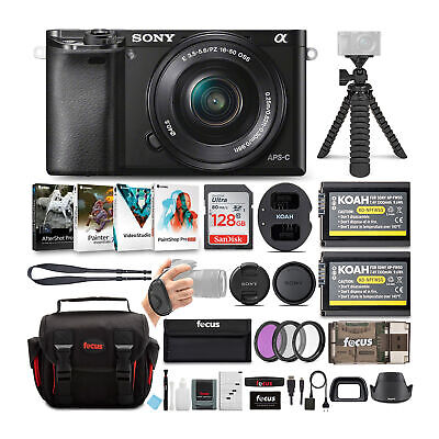 Sony Alpha a6100 APS-C Mirrorless Camera with 16-50mm Lens and Accessory Bundle