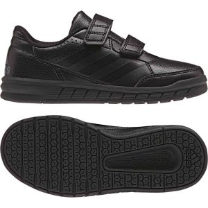Boys Adidas Alta sports Shoes Black School Casual Kids Trainers -BA9526   57