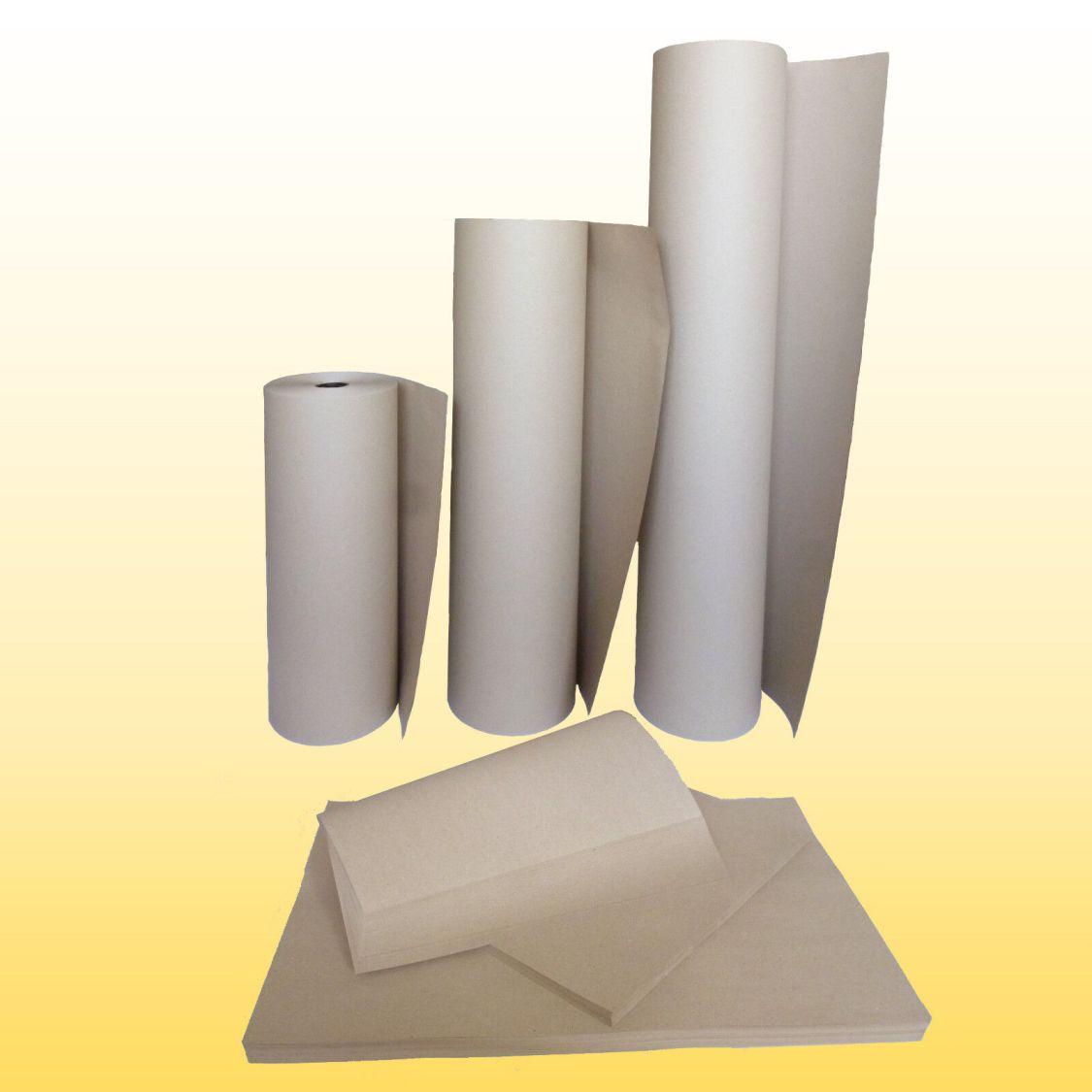 Schrenzpapier 80,100,120 g/m² Packpapier / Rollen 50,75,100 cm / Bogen 50x75 cm