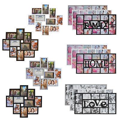 Multi Bilderrahmen Collage Galerie Fotorahmen Mehrfach für 10x15 & 13x18cm Fotos