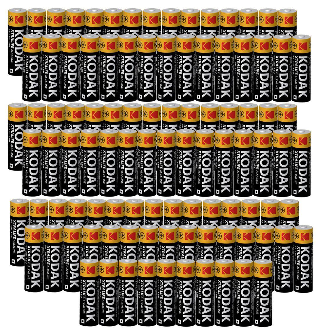 100 x KODAK Mignon AA Batterien 2700 mAh 1,5 V LR06 Xtralife