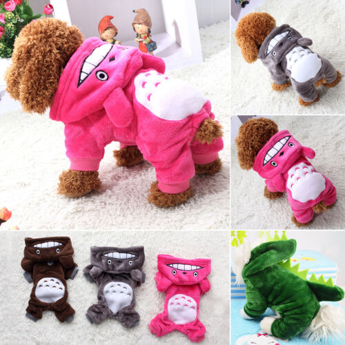 Small Pet Hoodie Sweater Coat Jacket Puppy Dog Cat Warm Costume Apparel Clothes 4