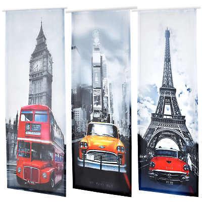 Schiebegardine Flächenvorhang Schiebevorhang NewYork Paris London 60x245cm #5038