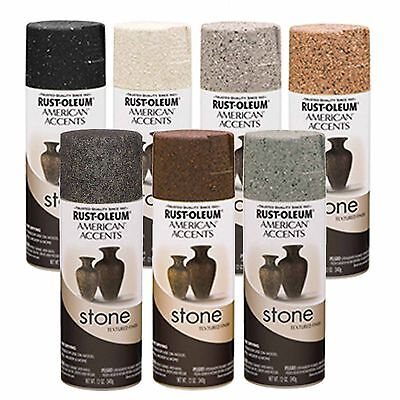 Rust Oleum American Accents Stone Textured Spray Paint Vases Pots Arts Crafts