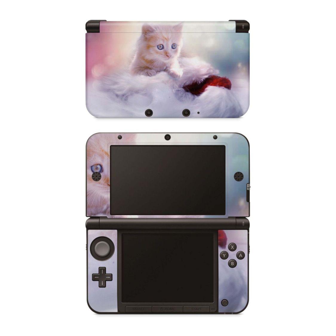 Nintendo 3DS XL Aufkleber Skin Schutzfolie Design Sticker Decal Kätzchen